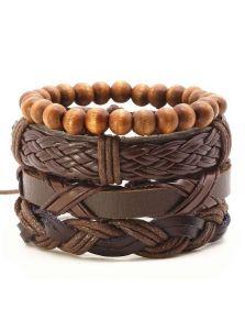 Набор кожаных браслетов - Миэрин