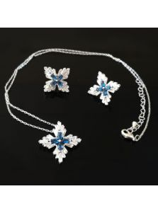 Набор украшений - Синий цветок