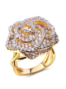 Объемное кольцо - Роза