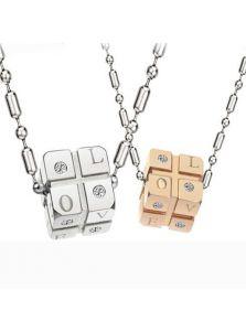 Парные кулоны для друзей - Кубик-рубик