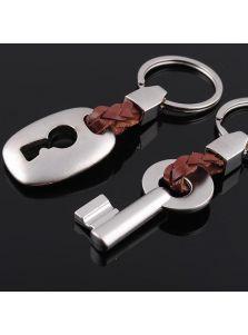 Парные брелки - Кожаный ключ