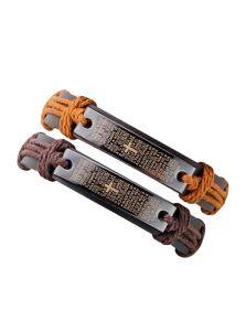 Парные браслеты из кожи - Спаси и сохрани
