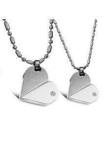 Парные кулоны - Сердце трансформер (поворачивающиеся)
