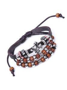 Плетеный браслет - С бусинами