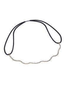 Повязка-резинка на голову - Плетеная