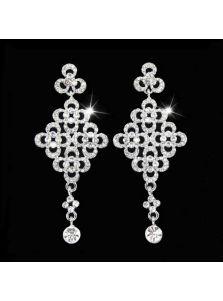 Продолговатые серьги - Кристальный крест
