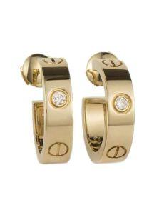 Серьги Cartier - C бриллиантами