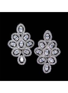 Серьги - Фианитовый цветок