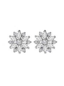 Серьги-гвоздики - Алмазный цветок