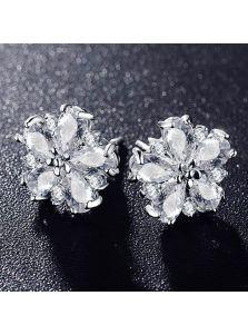 Серьги-гвоздики - Ажурный цветок