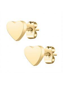 Серьги-гвоздики - Металлическое сердце