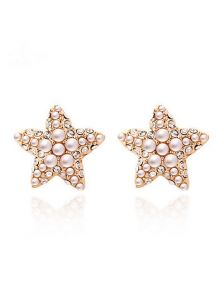 Серьги гвоздики - Морская звезда