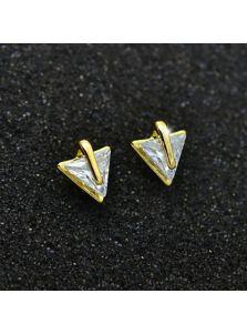 Серьги-гвоздики - Острый кристалл