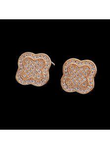 Серьги-гвоздики - Счастливый клевер