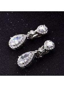 Серьги-клипсы - Сверкающий кристалл