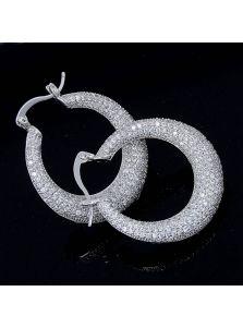 Серьги-кольца - Драгоценный блеск