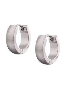 Серьги-кольца - Из стали