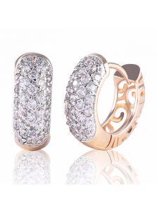 Серьги-кольца - Каменное колесо