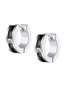 Серьги-кольца - Кристальный разрез