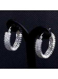 Серьги-кольца - С фианитами