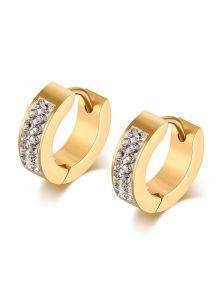 Серьги-кольца - Яркие камни