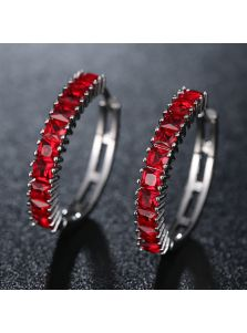 Серьги - Кристальная колея