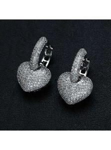Серьги - Кристальное сердце