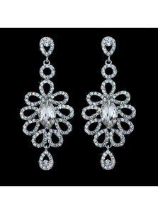 Серьги - Кристальный цветок