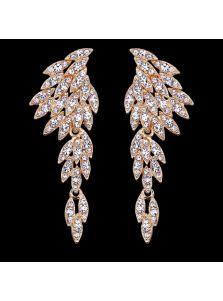 Серьги - Кристальные крылья