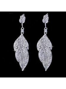 Серьги - Кристальные листочки