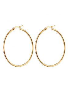 Серьги - Крупное кольцо
