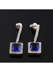 Серьги - Кристальный камень