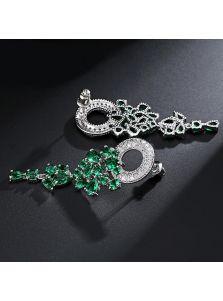 Серьги - Окружность камней