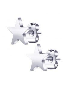 Серьги-пуссеты - Металлическая звезда