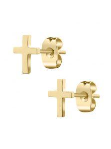 Серьги-пуссеты - Металлический крест