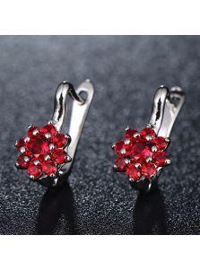 Серьги - Цветок из камней