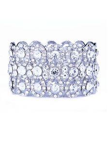 Широкий браслет - Кристальная чешуя