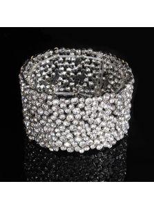 Широкий браслет - Россыпь камней
