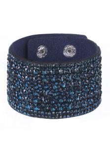 Широкий женский браслет - Сияющие камни
