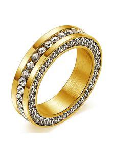 Стальное кольцо - С камушками