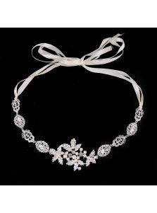 Свадебная повязка - Кристальный орнамент