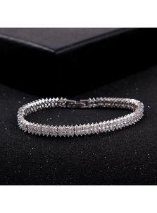 Свадебный браслет - Двойной камень
