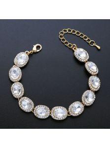 Свадебный браслет - Кристальный овал