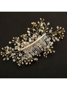 Свадебный гребень - Хрустальный орнамент