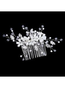 Свадебный гребень - Цветы из жемчуга