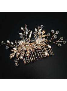 Свадебный гребень - Жемчужный цветок