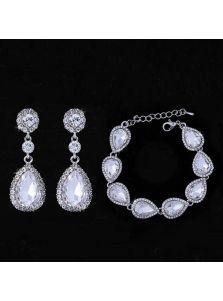 Свадебный набор украшений - Капельки