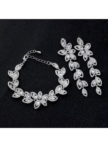 Свадебный набор украшений - Кристальный лепесток
