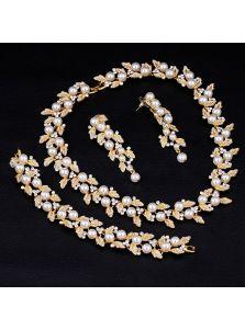 Свадебный набор украшений - Жемчужный