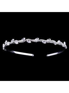 Свадебный ободок - Кристальная змейка